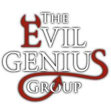 The logo of the company Amanda interns for, courtesy of https://twitter.com/EvilGeniusGrp