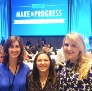 Heather, pictured in middle, at Make Progress conference in DC